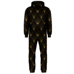 Abstract Stripes Pattern Hooded Jumpsuit (Men)