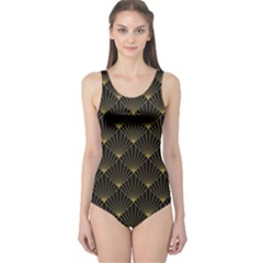 Abstract Stripes Pattern One Piece Swimsuit