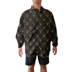 Abstract Stripes Pattern Wind Breaker (Kids)
