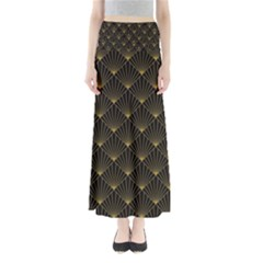Abstract Stripes Pattern Maxi Skirts