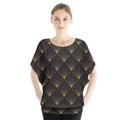 Abstract Stripes Pattern Blouse