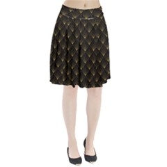 Abstract Stripes Pattern Pleated Skirt