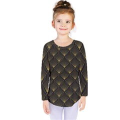 Abstract Stripes Pattern Kids  Long Sleeve Tee