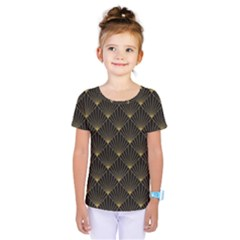 Abstract Stripes Pattern Kids  One Piece Tee