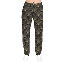 Abstract Stripes Pattern Drawstring Pants