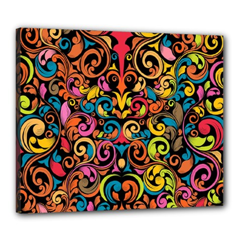 Art Traditional Pattern Canvas 24  x 20