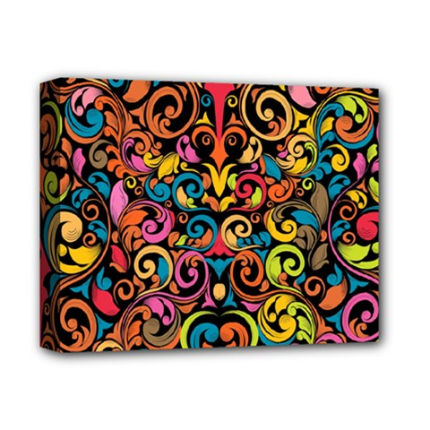 Art Traditional Pattern Deluxe Canvas 14  x 11