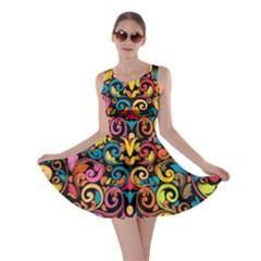 Art Traditional Pattern Skater Dress