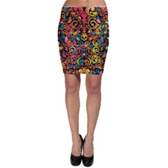 Art Traditional Pattern Bodycon Skirt