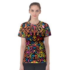 Art Traditional Pattern Women s Sport Mesh Tee