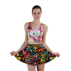 Art Traditional Pattern Mini Skirt