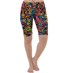Art Traditional Pattern Cropped Leggings