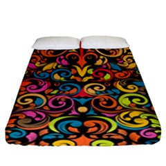 Art Traditional Pattern Fitted Sheet (King Size)