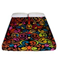 Art Traditional Pattern Fitted Sheet (California King Size)