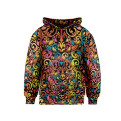 Art Traditional Pattern Kids  Pullover Hoodie
