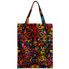 Art Traditional Pattern Zipper Classic Tote Bag