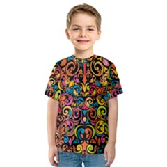 Art Traditional Pattern Kids  Sport Mesh Tee