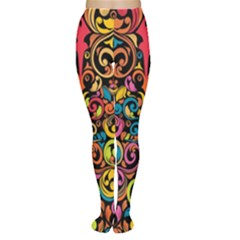 Art Traditional Pattern Women s Tights