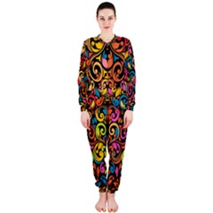 Art Traditional Pattern OnePiece Jumpsuit (Ladies)