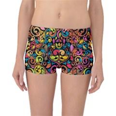 Art Traditional Pattern Boyleg Bikini Bottoms