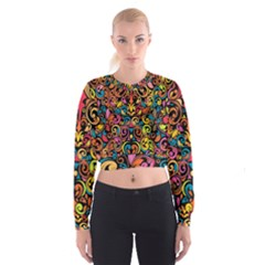 Art Traditional Pattern Cropped Sweatshirt