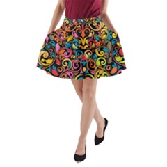 Art Traditional Pattern A-Line Pocket Skirt