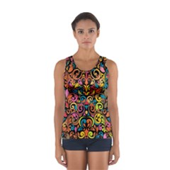 Art Traditional Pattern Women s Sport Tank Top