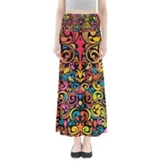 Art Traditional Pattern Maxi Skirts