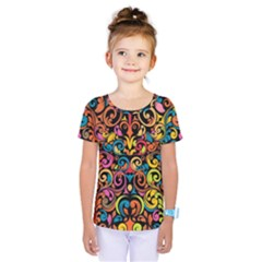 Art Traditional Pattern Kids  One Piece Tee