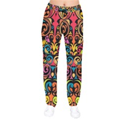 Art Traditional Pattern Drawstring Pants