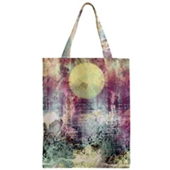 Frosty Pale Moon Zipper Classic Tote Bag