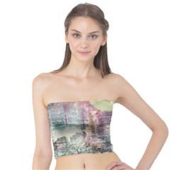Frosty Pale Moon Tube Top