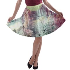 Frosty Pale Moon A Line Skater Skirt