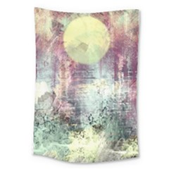 Frosty Pale Moon Large Tapestry