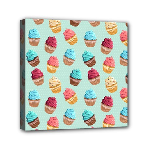 Cup Cakes Party Mini Canvas 6  x 6