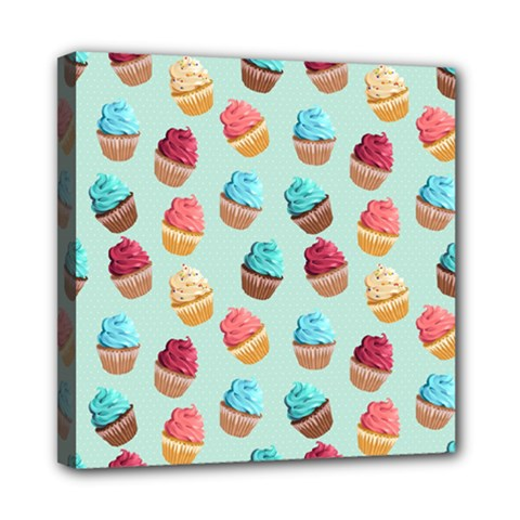 Cup Cakes Party Mini Canvas 8  X 8