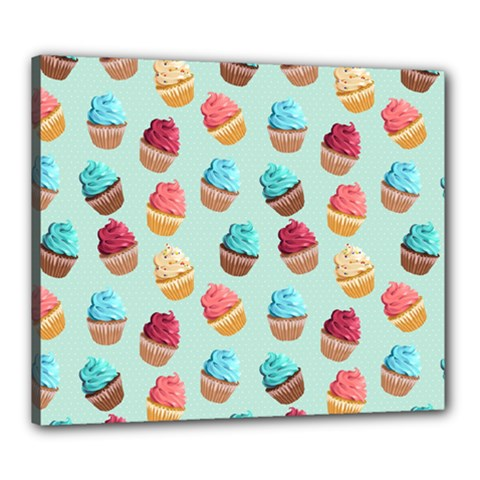 Cup Cakes Party Canvas 24  X 20