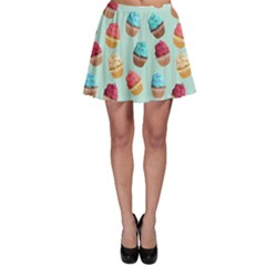 Cup Cakes Party Skater Skirt