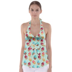 Cup Cakes Party Babydoll Tankini Top