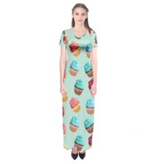Cup Cakes Party Short Sleeve Maxi Dress