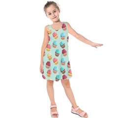 Cup Cakes Party Kids  Sleeveless Dress