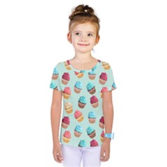 Cup Cakes Party Kids  One Piece Tee