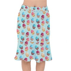 Cup Cakes Party Mermaid Skirt