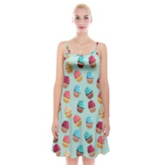 Cup Cakes Party Spaghetti Strap Velvet Dress