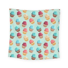 Cup Cakes Party Square Tapestry (small)
