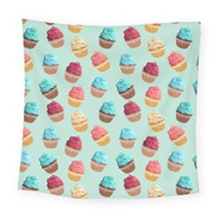 Cup Cakes Party Square Tapestry (large)