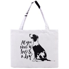 Dog person Mini Tote Bag