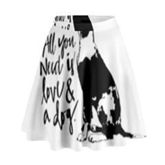 Dog person High Waist Skirt