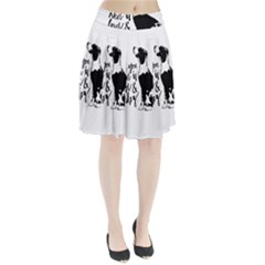 Dog person Pleated Skirt