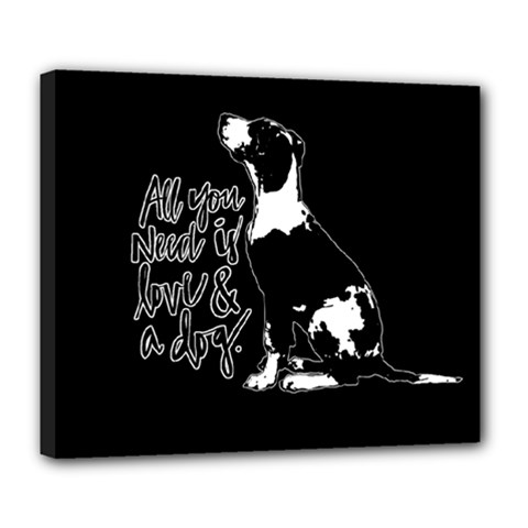 Dog person Deluxe Canvas 24  x 20